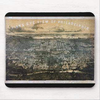 Bird's eye view of Philadelphia Pennsylvania 1868 Mouse Pad