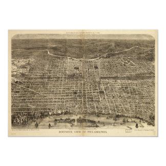 Bird's eye view of Philadelphia Pennsylvania 1872 Card