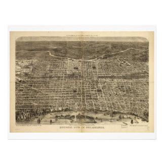 Bird's eye view of Philadelphia Pennsylvania 1872 Letterhead