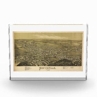 Bird's Eye View of Pottsville Pennsylvania (1889) Acrylic Award