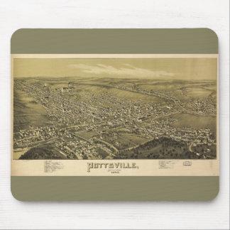 Bird's Eye View of Pottsville Pennsylvania (1889) Mouse Pad