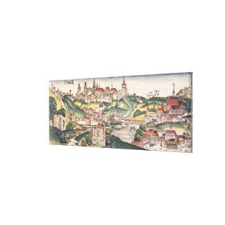 Bird's Eye View of Prague from the Nuremberg Chron Gallery Wrap Canvas