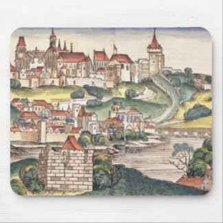 Bird's Eye View of Prague from the Nuremberg Chron Mouse Pad