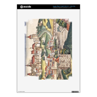 Bird's Eye View of Prague from the Nuremberg Chron Skin For iPad 3