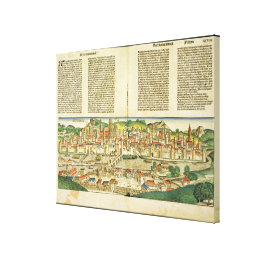 Bird's Eye View of Ratisbon, from the Nuremberg Ch Canvas Print