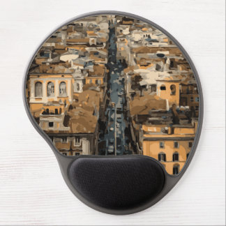 Bird's Eye View of Rome, Italy Gel Mouse Pad