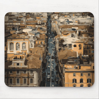 Bird's Eye View of Rome, Italy Mouse Pad