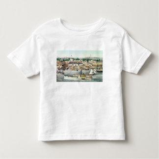 Bird's Eye View of Sixth Street Wharf Toddler T-shirt
