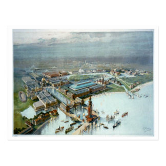 Birds Eye View Of The 1893 Columbia Exposition Postcard