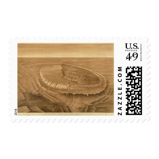 Bird's eye view of the Black Hills Stamp