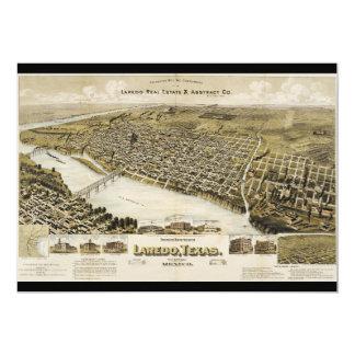 Bird's Eye View of the City of Laredo Texas (1892) 5x7 Paper Invitation Card