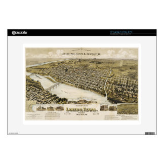 Bird's Eye View of the City of Laredo Texas (1892) Laptop Decals