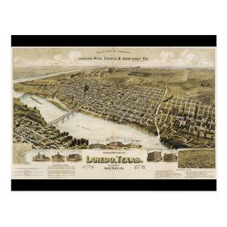 Bird's Eye View of the City of Laredo Texas (1892) Postcard
