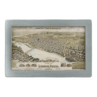 Bird's Eye View of the City of Laredo Texas (1892) Rectangular Belt Buckle