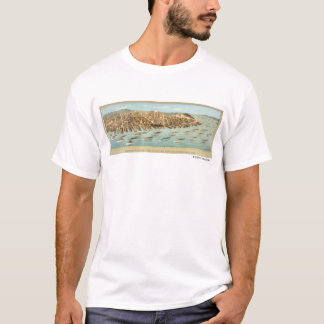 Bird's-eye View of the Fleet in San Francisco Bay, T-Shirt