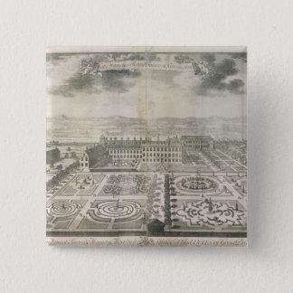 Bird's Eye View of the Gardens Kensington Pinback Button
