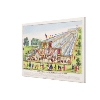 Bird's Eye View of the Great Exhibition in Hyde Pa Canvas Print