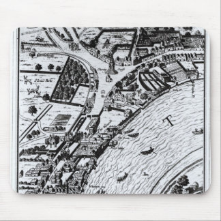 Bird's eye view of the River Thames Mouse Pad