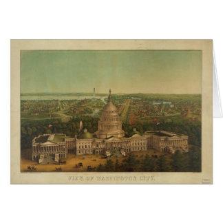 Bird's Eye View of Washington D.C. in 1869 Card