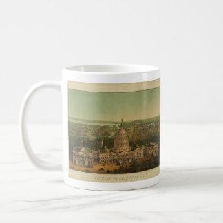 Bird's Eye View of Washington D.C. in 1869 Coffee Mug