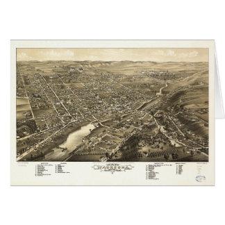 Bird's eye view of Waukesha Wisconsin (1880) Card