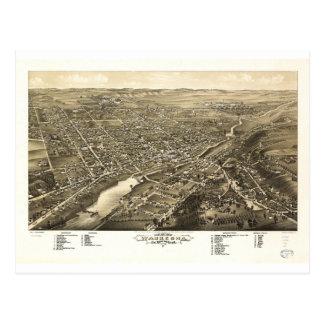 Bird's eye view of Waukesha Wisconsin (1880) Postcard