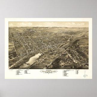 Bird's eye view of Waukesha Wisconsin (1880) Poster