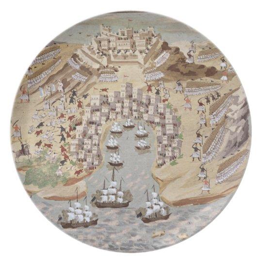 Bird's-Eye View of western Greece centred on Vonit Melamine Plate