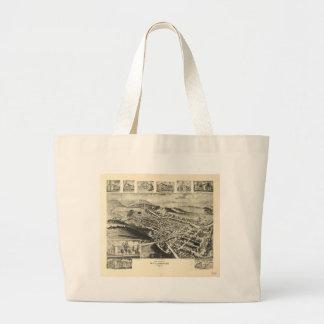 Birds eye view of Williamsburg Pennsylvania (1906) Large Tote Bag