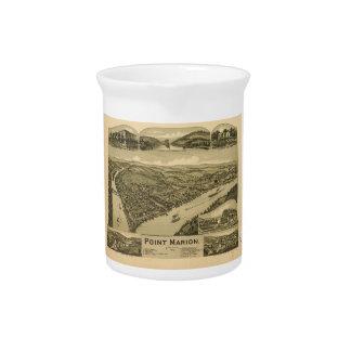 Bird's Eye View Point Marion Pennsylvania (1902) Drink Pitcher