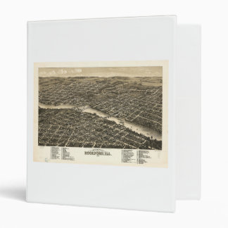 Bird's eye view Rockford Illinois (1880) 3 Ring Binder