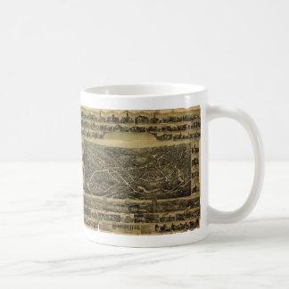 Bird's Eye View Southbridge Massachusetts in 1892 Coffee Mug