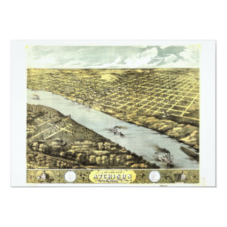 Bird's Eye View the City of Atchison Kansas 1869 Card