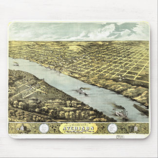 Bird's Eye View the City of Atchison Kansas 1869 Mouse Pad