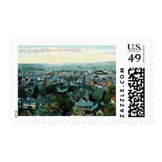 Bird's Eye View, Waterbury, Connecticut Vintage Postage Stamp