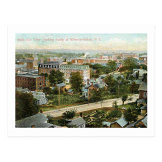 Bird's Eye View, Winston Salem, NC Vintage Postcard