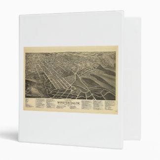 Bird's-eye view Winston-Salem North Carolina 1891 3 Ring Binder