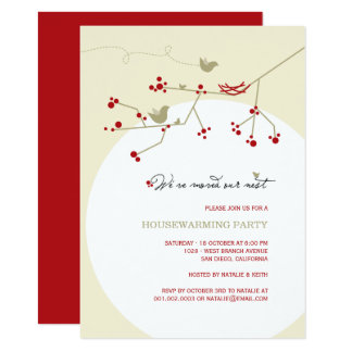Birds Family New Nest Housewarming Party Invite