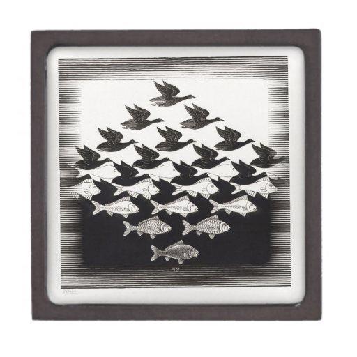 birds fish premium jewelry box