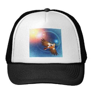 Birds flight in rays of light trucker hat