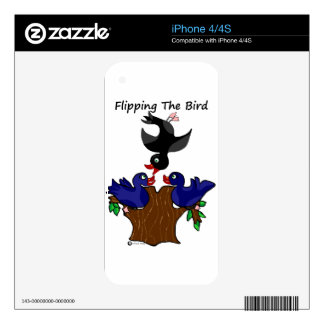 Birds Flipping The Bird Decals For The iPhone 4S
