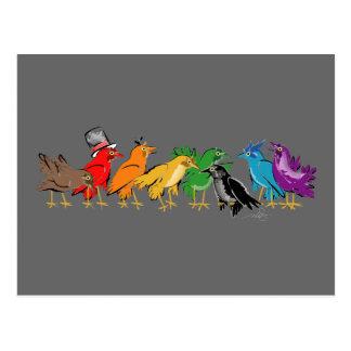 Birds Flocking Together Postcard