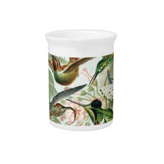 birds flowers flower bird nature vintage painting pitchers