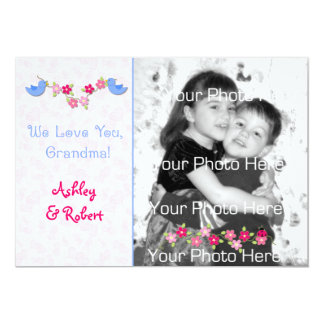 Birds, Flowers, Hearts Grandmother Mothers Day Car Custom Announcement
