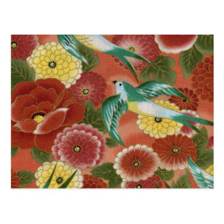 Birds & Flowers Postcard