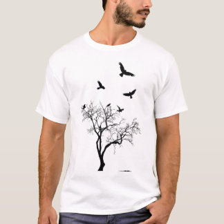 Birds Fly From The Tree worn and tattered tshirt