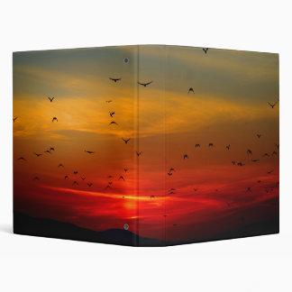 Birds Fly Into Sunset Binder