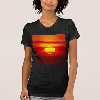 Birds Fly On Sky With Sunset Savanna Shirts