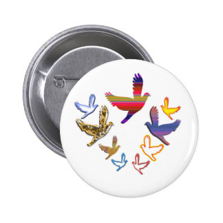 Birds Fly :  Soaring High is my nature Button
