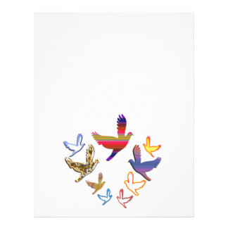 Birds Fly :  Soaring High is my nature Letterhead